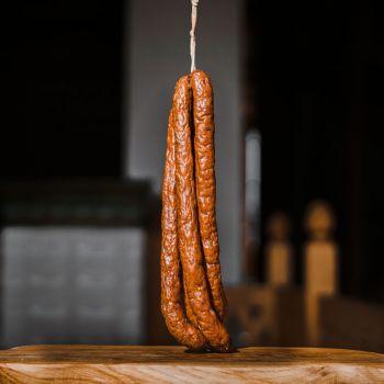 Kabanosy z dzika mają 100 procent mięsa z dzika, bez dodatku wieprzowiny