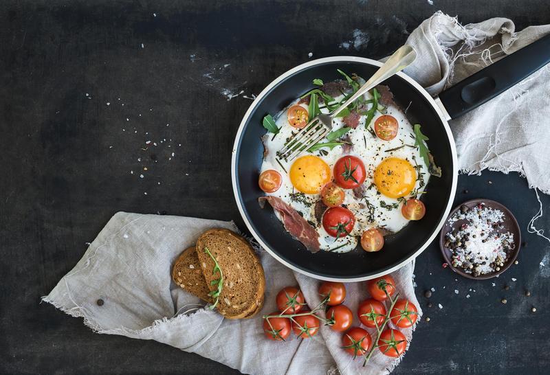 obiad z jajkiem